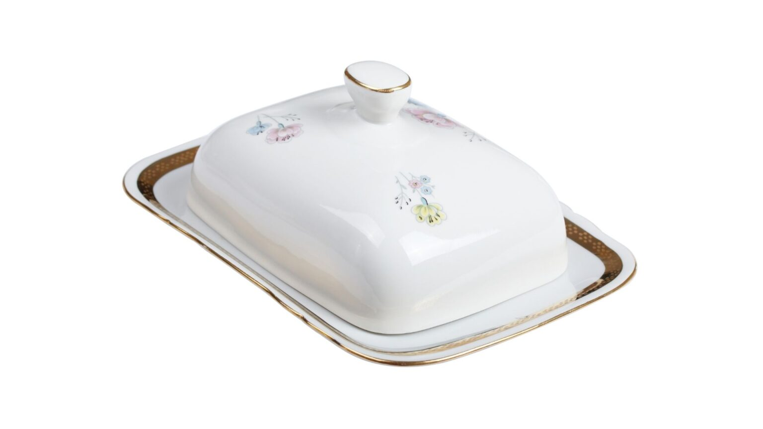 Faience Butter Dish