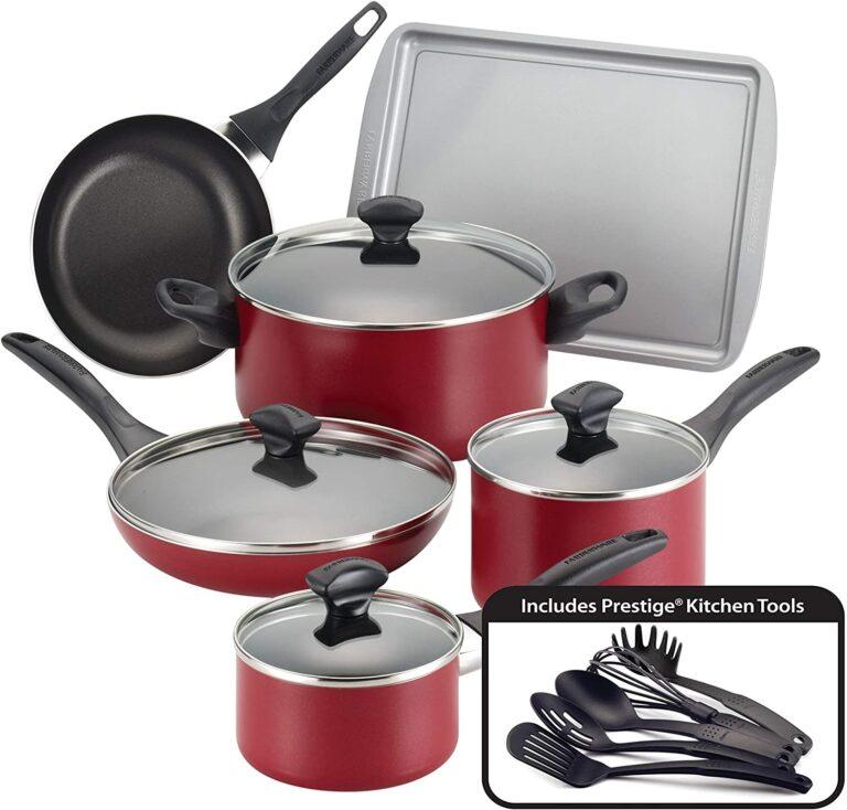Farberware Safe Nonstick Pots and Pans Set 15 Piece