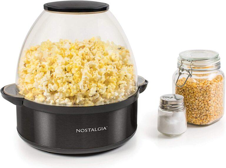 Nostalgia Stainless Steel 6-Quart Popcorn